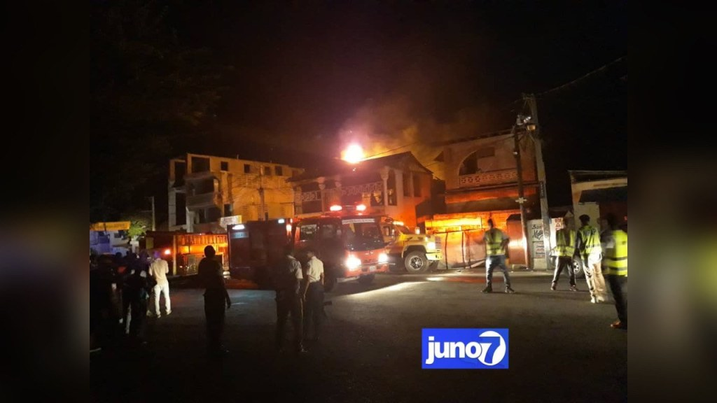 Restaurant belonging to new police head administrator catches on fire