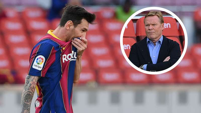 No goals from open play in six games – Messi becoming a big problem for Barcelona boss Koeman