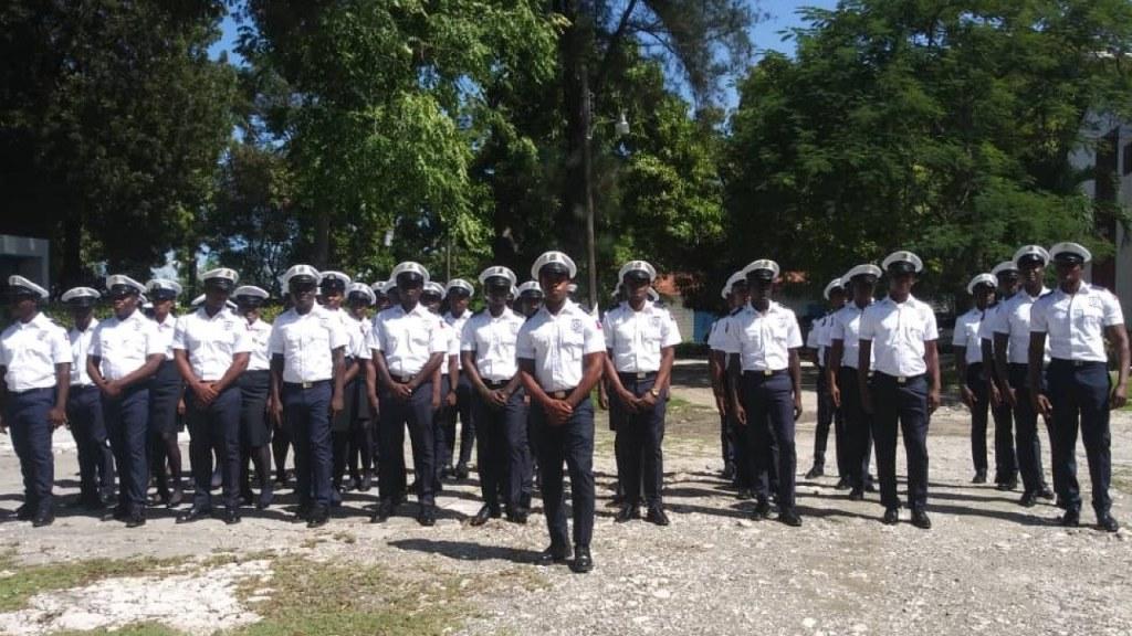 New class of 42 coast guard officers graduate Haitian academy