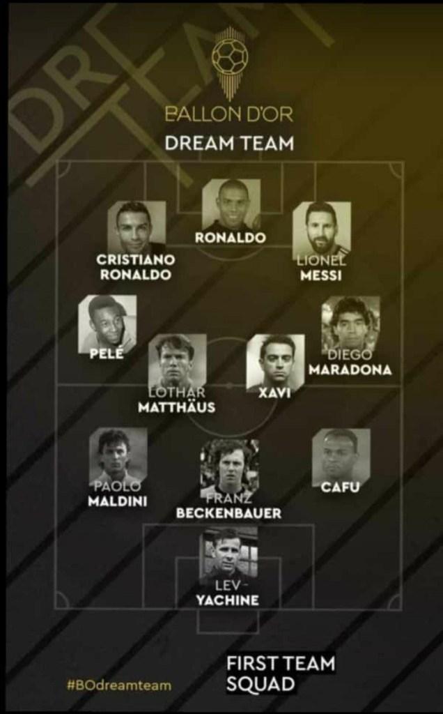 All-time Ballon d'Or XI announced including Cristiano Ronaldo and Lionel Messi