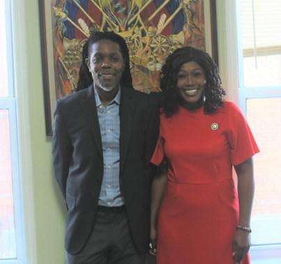haitian activist jensen desrosiers and diana richardson