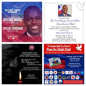 Diaspora to honor Moïse, pray for stability in Haiti, at multiple events
