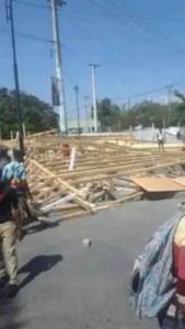 Haïti-Protestation: des manifestants saccagent des stands au Champ-de-mars 1