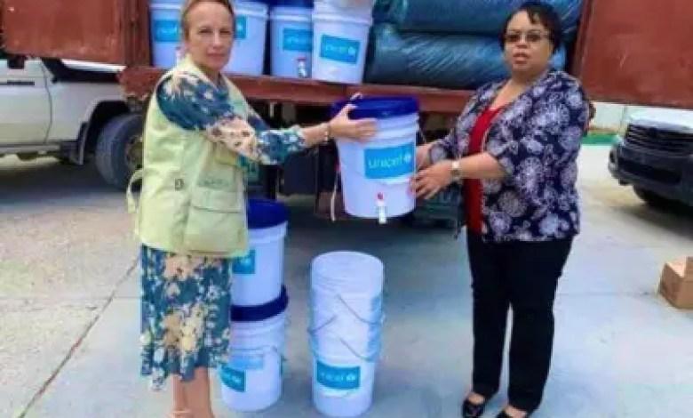 Coronavirus: la remise des seaux par l'UNICEF au MSPP enflamme les réseaux sociaux, la photo retirée ! 1
