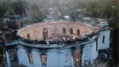 Photo de Drame à Milot: un Incendie a ravagé une partie de l'Église Immaculée Conception