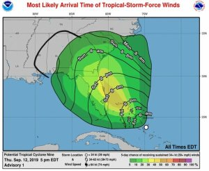 Après Dorian, les Bahamas s'apprêtent à faire face au cyclone Nine 1