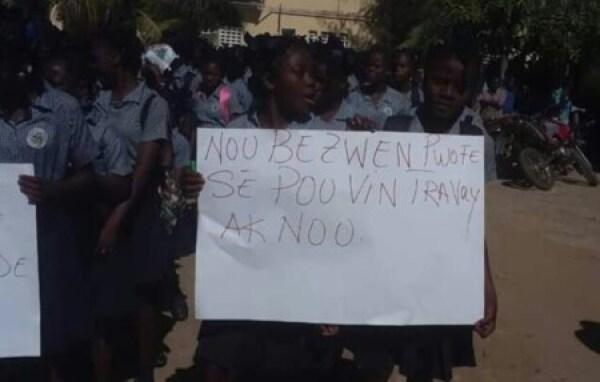 Ouanaminthe : marche des professeurs pour réclamer le paiement de leurs arriérés de salaire 1