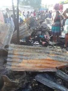 Incendie d'une partie du marché de Petite-Rivière de l'Artibonite