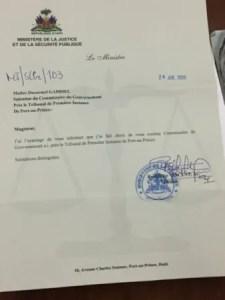 Ducarmel Gabriel promu Commissaire du gouvernement