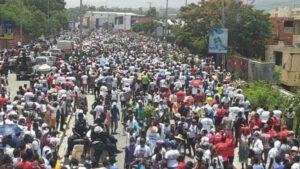 Des chrétiens protestants encore dans les rues contre le Code pénal du Président Jovenel Moïse