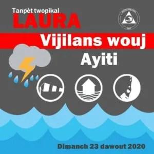 Cyclone Laura : les autorités décrètent l'alerte rouge sur Haïti
