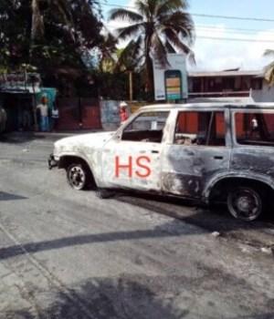 Port-au-Prince : au moins 2 véhicules incendiés à Nazon