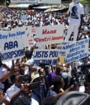 Trou-du-Nord (Nord'Est) : marche pacifique à la mémoire du président assassiné Jovenel Moïse