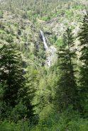 cascade vers lac d'aubert