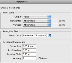 My InDesign preferences