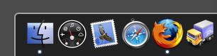 2D Mac dock