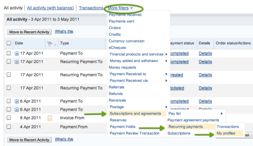 filter payments
