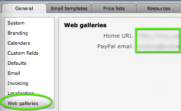 web gallery settings