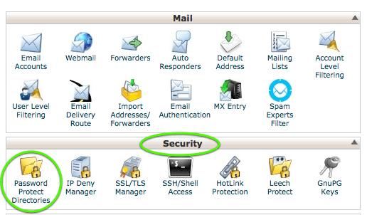 Password protect