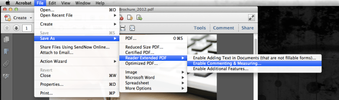 enable commenting in acrobat x