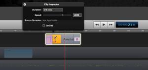screenflow clip inspector