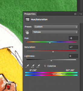 change specific colours in photoshop when saving images for print