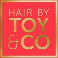 hair by toy gold foil logo