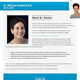 Melissa Rosten Simple Single Page Website