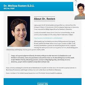 Melissa Rosten Simple Single Page Website