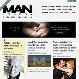 MAN LONDON Website
