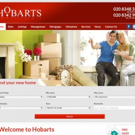 Hobarts Estate Agents Website