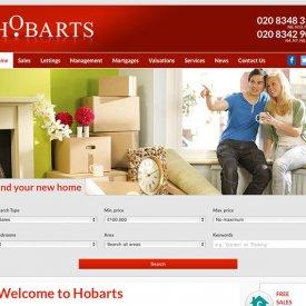 Hobarts Estate Agents Website