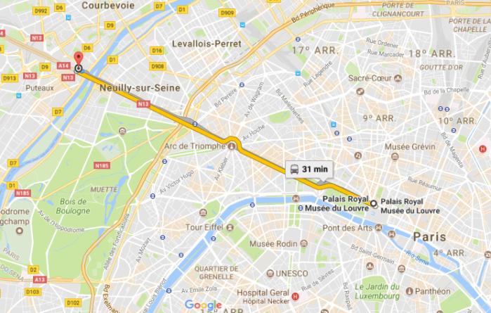 Roteiro para Paris