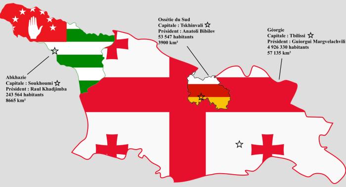 indépendance de l'Abkhazie et de l'Ossétie du Sud