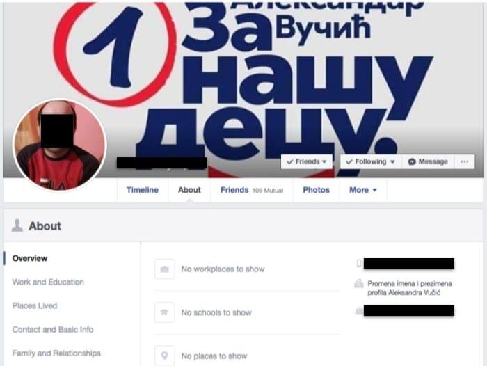 facebook vucic sns serbie bot 3