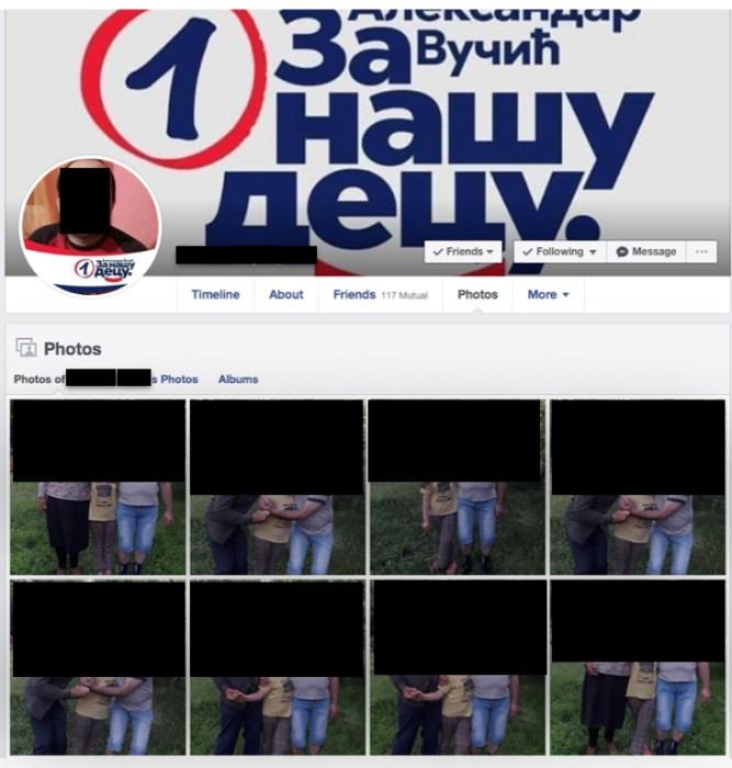 fake facebook vucic sns serbie bot 2