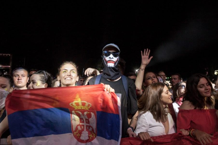 exit festival concert public serbe