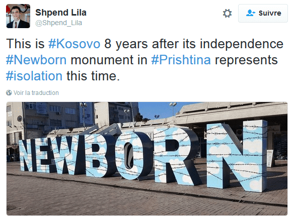 2016 04 09 15 25 20 Shpend Lila sur Twitter This is Kosovo 8 years after its independence Newbo