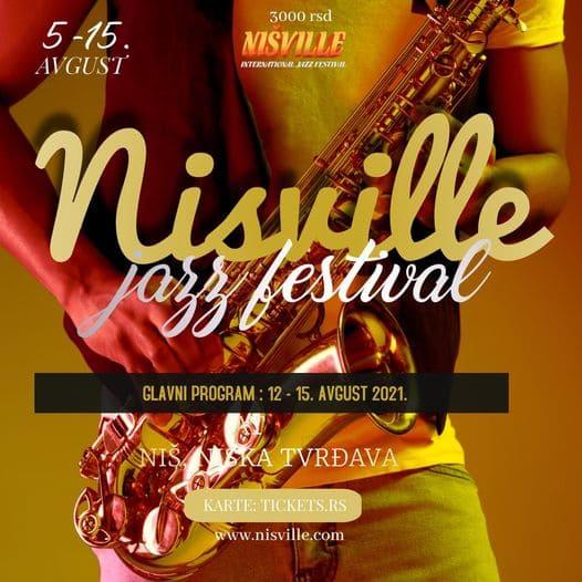 affiche du nisville jazz festival à Nis en Serbie
