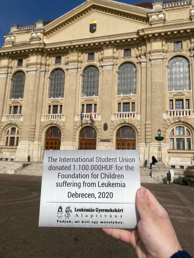 Nemzetközi Hallgatók adománya