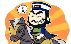 愛馬に乗る張遼