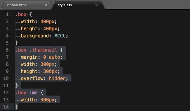 thumbnailクラスのCSSを追加