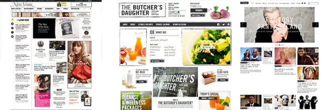 magazine look websites