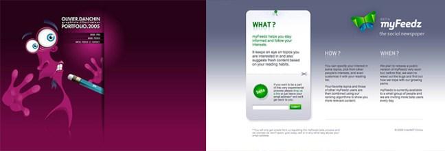 Renk Geçişli web siteleri