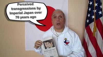 韓国人、涙目で逃走<丶`Д´>テキサス親父の動画上の論戦で日本側大勝利!