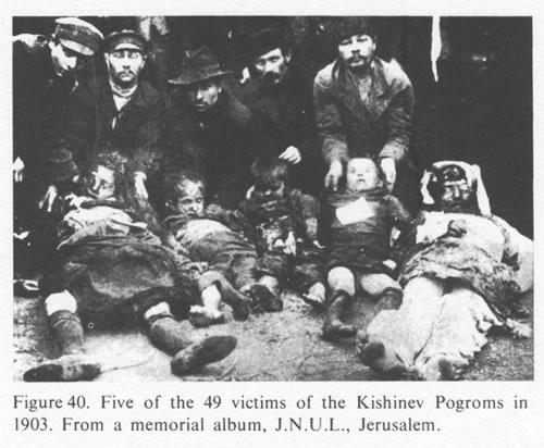 1903年、キシナウ(現在のモルドバの首都)で殺害されたユダヤ人の子供たち