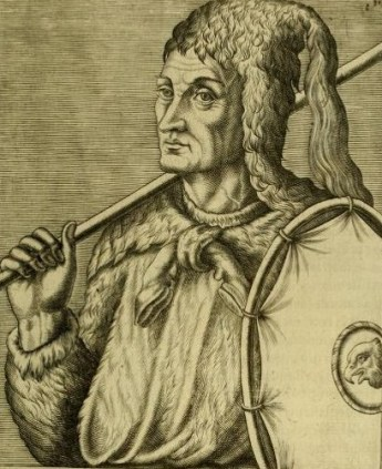 Thevet's 1557 engraving of a South American Indian.