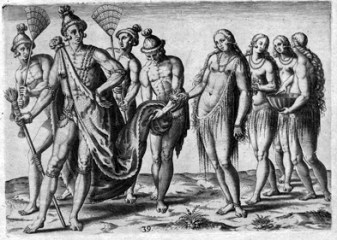 De Bry's engraving showing Timucua Indian women.