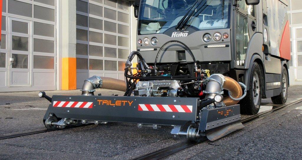 Limpia Railes para la barredora vial Citymaster 2200 - La solución de Hako.