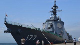 海上自衛隊護衛艦(イージス艦)「あしがら」一般公開